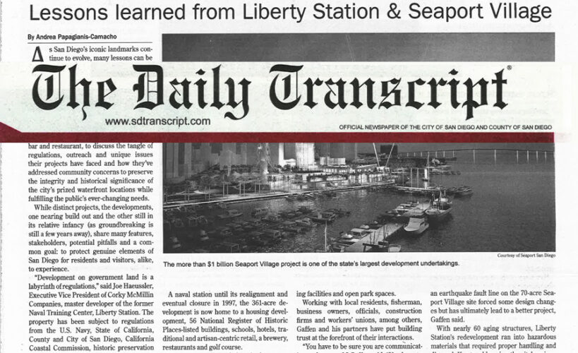 Lessons Learned from Seaport | Gafcon Inc